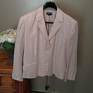 Linen Houndstooth Jacket